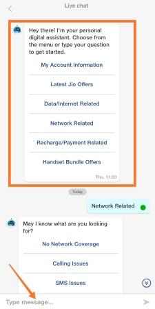 jio-live-chat-user-interface