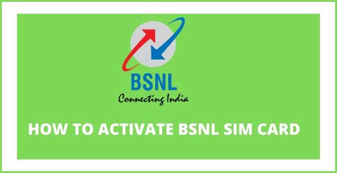 how-to-activate-bsnl-sim-card-number
